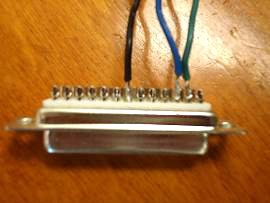 D-shell connector soldered by student