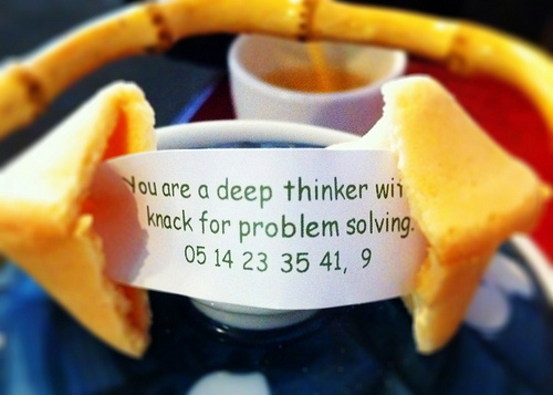 Problem-solving fortune cookie, by Tomasz Stasiuk, via Flickr